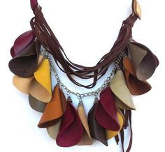 collana in pelle/leather necklaces di Stile Pelle su DaWanda.com