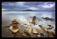 Mirrorlike water   rocks, sky, lake, Ural