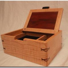 Valet boxes my husband made for our groomsmen  Made by Ravenswood Custom Woodworking in Milwaukee, WI