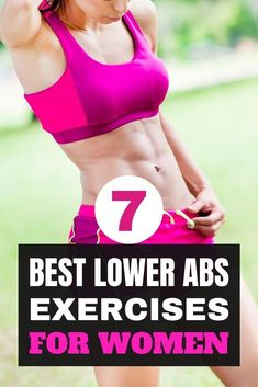 Here are 7 best abs exercises that you should consider adding to your exercise routine if you're serious about workout lower abs. Yoga Fitness, Fitness Workout For Women, Health And Fitness Tips, Fitness Goals, Fitness Hacks, Fitness Tips For Women, Workout Plan For Women, Fun Workouts, Body Workouts