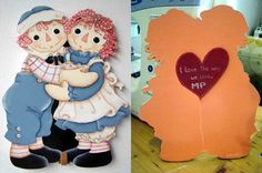 Idea for Valentine's card. I painted on MDF wood and use it for decoration.