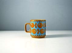 Hornsea Pottery fish mug. Stylised modern by AnEyeOnStyle on Etsy