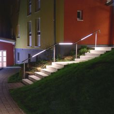 Handrail with integrated LED light FIACCOLA LED or T5 LECCOR Leuchten
