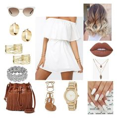 """""""daxe"""" by asoles2011 on Polyvore featuring FOSSIL, Gucci, DKNY, Steve Madden and Lime Crime"""