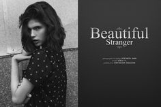 """Beautiful Stranger"" lensed by Benjamin Kwan for Confashion Magazine"