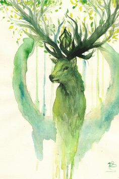 deer - spirit of the Forest by zarielcharoitite (print image)