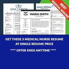 Nurse Resume Template, Medical Resume Template, Nursing CV, Resume Nurse, Nursing rn, RN Resume, Doctor Resume, Nurse CV, Cover Letter