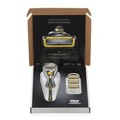 #fashionable #trendy This #Gillette shaving set contains one handle and one blade refill. Fusion ProShield Men's Razors shields while you shave. ProShield Lubric...