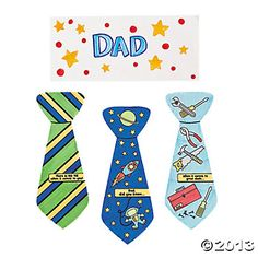 Color Your Own Fathers Day Tie-Shaped Cards $5.00 for 12
