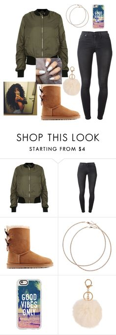 """""""Only 34 days until Christmas 🎄"""" by sweet-brownsuga ❤ liked on Polyvore featuring Topshop, 7 For All Mankind, UGG Australia, Wet Seal, Casetify and Armitage Avenue"""