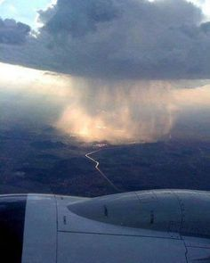 Rain cloud viewed from a plane.