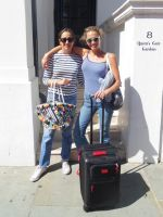 How 2 Friends Shared 1 Suitcase For A Whole Vacation #refinery29  http://www.refinery29.com/bff-suitcase-laurel-pantin