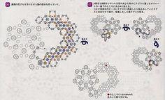 схема плетения кулона из бисера