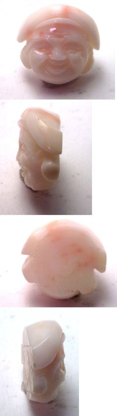 Coral 110793: Nos Antique Vintage Genuine Undyed Coral Laughing Buddha Man Stone Ok11 -> BUY IT NOW ONLY: $49.99 on eBay!