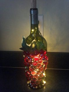 Glass MultiColored Grape Clusters on Large Wine by MegsEndeavors, $23.95