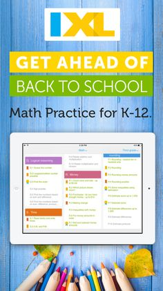 This school year, give your kids practice that feels like play! IXL is the web's premier learning platform, offering interactive practice for K-12 students. Available for Desktop, iPad, Android, and Kindle Fire.