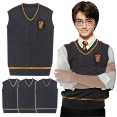Harry Potter Sweater Vest Gryffindor Raven claw Cosplay Costume Man Waistcoat //Price: $36.99 & FREE Shipping //   #dragonballz #anime