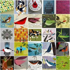 Charley Harper Inspiration - Nature Focus by maripenquilts, via Flickr