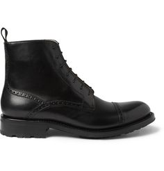 O'Keeffe Liam Leather Brogue Boots | MR PORTER