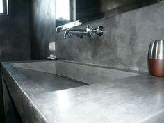 Lavamanos cemento pulido