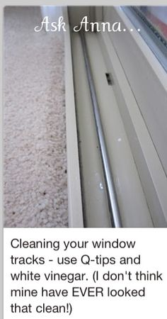 Clean your window tracks