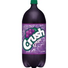 Crush Caffeine-Free Grape Soda, 2 L Juice Packaging, Grape Soda, Pop Bottles, Yummy Drinks, Watermelon, Crushes, Canning, Soda Crush, Crush Crush