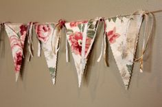 Mothers Day Banner 10 pennants Red and Pink Roses by BreezyBanners