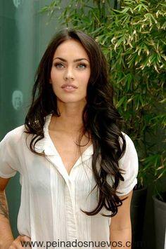 Megan Fox Extra Largas, el Pelo Ondulado