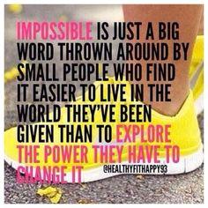IMPOSSIBLE = IM POSSIBLE!!! #Project10 #Fitness #weightloss #Entrepreneur #Healthy #Vi #BodyByVi #Motivation #Workout #ZLoescher