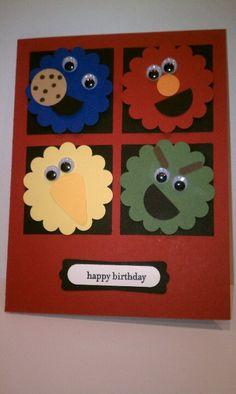 Sesame Street birthday card created by AZ Girl Creations