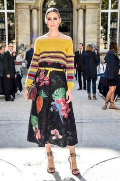 Olivia Palermo - embroidered skirt