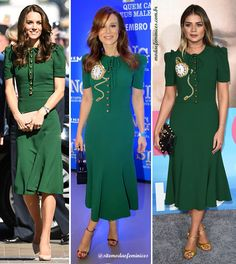Mariana Ximenes e Thássia Naves copiam o look da princesa Kate Midetlon - vestido para madrinhas | http://modaefeminices.com.br/2017/02/09/mariana-ximenes-e-thassia-naves-copiam-o-look-da-princesa-kate-midetlon/