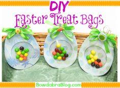 DIY Easter Treat Bags - easy tutorial for Easter Basket treats