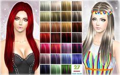 27 hair Color palet by Jennisims - Sims 3 Downloads CC Caboodle