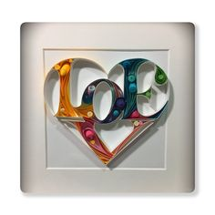 Quilling love heart