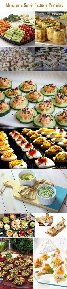 Aprenda a fazer receitas práticas e deliciosas de pastinhas e patês para petiscos de festa ou como entrada para acompanhar seus pratos preferidos