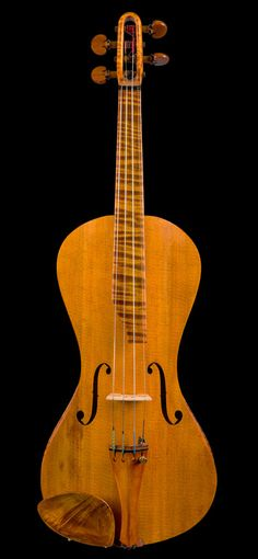 Unusually Shaped Violin by Contemporary American Maker. This and more rare musical instruments on CuratorsEye.com