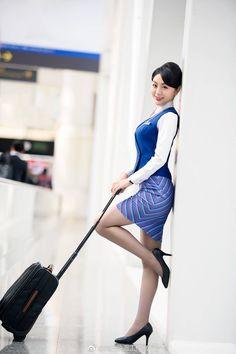 ( *`ω´) ιf you dᎾℕ't lιkє Ꮗhat you sєє❤, plєᎯsє bє kιnd Ꭿℕd just movє ᎯlᎾng. Beautiful Asian Women, Beautiful Legs, Asian Woman, Asian Girl, Asian Babies, Flight Attendant, In Pantyhose, Traditional Outfits, Asian Beauty