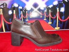 """Womens shoes BASS """"Bessie"""" High CHUNKY Heel Pumps square toe Brown LEATHER 8 M #Bass #PumpsClassics"""