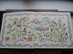 Map (Johanna Basford - Enchanted Forest)