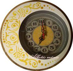 elegáns  ornamentika  festett  óra  falióra   53690e2494