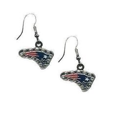 The Official Patriots ProShop Mobile | FE J-Hook Rhinestone Earrings