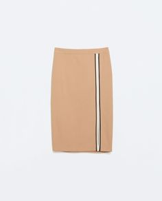 Image 6 of TUBE SKIRT WITH SLIT AND PIPING from Zara