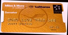 Lufthansa | Miles and More | Senator card