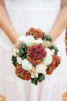 Ramo de Novia Flores de Ganchillo por FanyOrtegaHMS en Etsy. Wedding bouquet