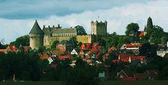 Bad Bentheim Dld - Kasteel Bentheim ligt net over de grens en is een hoogteburcht. Werd voor het eerst vermeld in 1050. (staat nog op onze wensenlijst, 50 min rijden van Deventer)