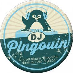 "Remy Tornior magnet moyen format (75mm) ""DJ Pingouin"""