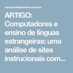 ARTIGO: Computadores e ensino de línguas estrangeiras: uma análise de sites instrucionais comunicativos