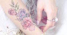 Wir wollen Blumen-Tattoos – gerade jetzt im Frühling umso mehr!
