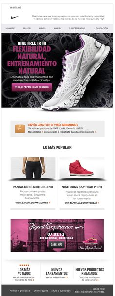 Web Graphic Design. Newsletter Inspirational Layout. Sports Fashion.